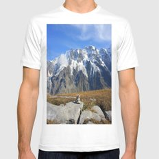 Trail Blazing the Alps Mens Fitted Tee MEDIUM White