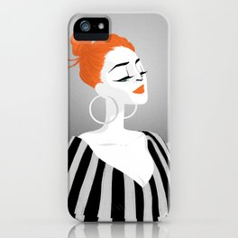RED HAIRED GIRL iPhone Case