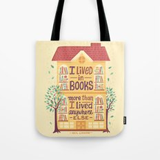 Lived in books Tote Bag