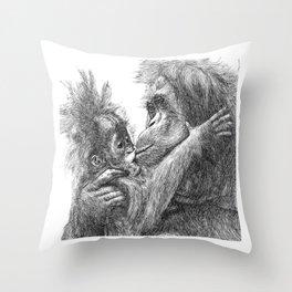 Orang Utan Throw Pillow