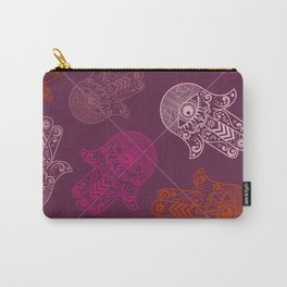 Hamsa Hand Print Carry-All Pouch