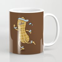 health Mugs featuring Health Nut by Jelly Soup Studios