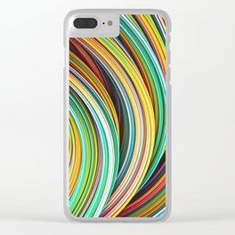 Stranded Strain IV.3 Colorful Strands Clear iPhone Case