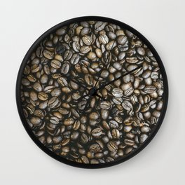 Coffee beans in Colombia Wall Clock