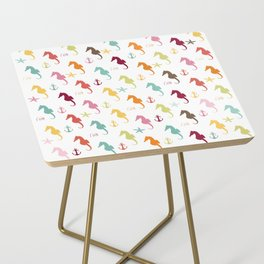 AFE Colorful Seahorse Pattern Side Table