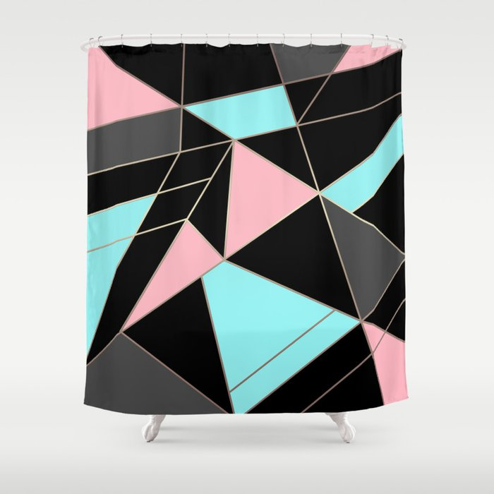 Abstraction . 5 geometric pattern Shower Curtain