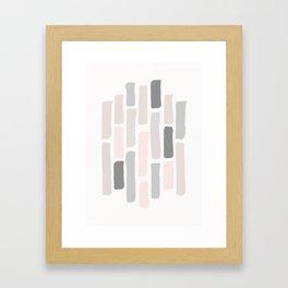 Soft Pastels Composition 1 Framed Art Print