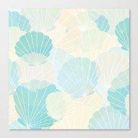 shells Canvas Prints featuring Shells by Karen Hischak