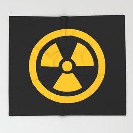 Yellow Radioactive Throw Blanket