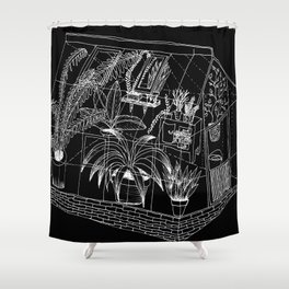 black greenhouse Shower Curtain