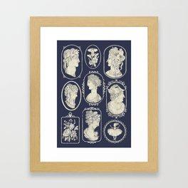 Blue Cameos Framed Art Print