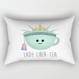 Lady Liber-tea Rectangular Pillow