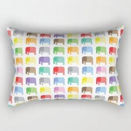 colored elephants pattern Rectangular Pillow