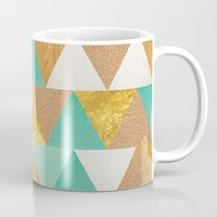 triangles Mugs featuring Triangles by Cat Coquillette