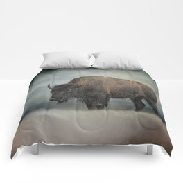Stormy Day - Buffalo - Wildlife Comforters