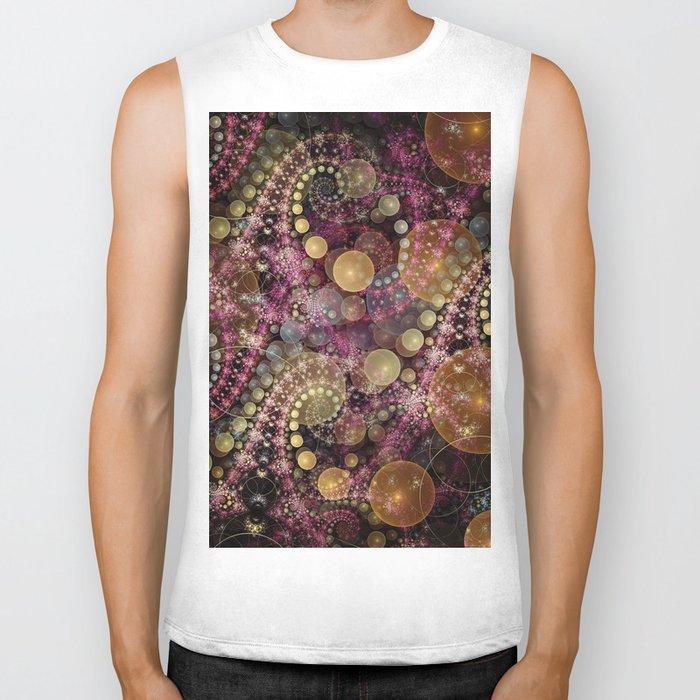 Magical dream, fractal abstract Biker Tank