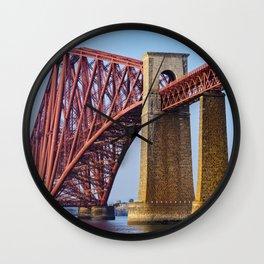 The Forth Bridge in Queensferry, Scotland Wall Clock