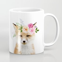 Baby Fox with Flower Crown Coffee Mug