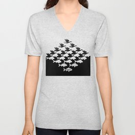 Escher - Sky and Water Unisex V-Neck