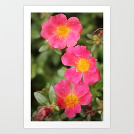 Neon Flowers Art Print