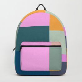 Abstract Geometric Shapes in Fun, Bright and Bold Colors Backpack