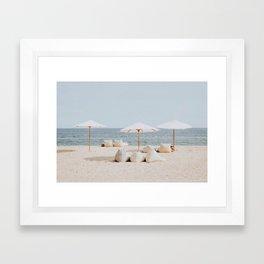 summer beach ii Framed Art Print
