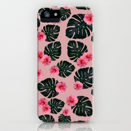 Tropical pattern n.1 - pink iPhone Case