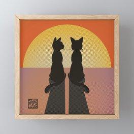 Watch the sunset Framed Mini Art Print