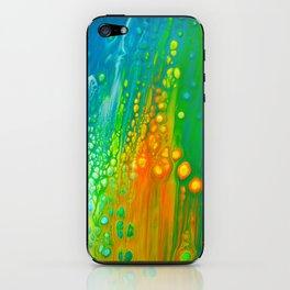 Aqua orange iPhone Skin