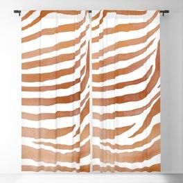 Copper Zebra Pattern Blackout Curtain