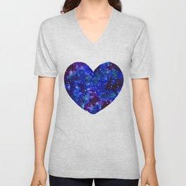 Space Heart Unisex V-Neck