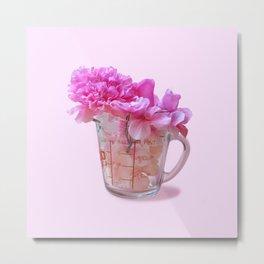 Cup of Flower Metal Print