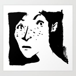 Women portrait Art Print