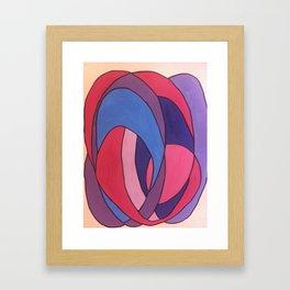 blue ink Framed Art Print