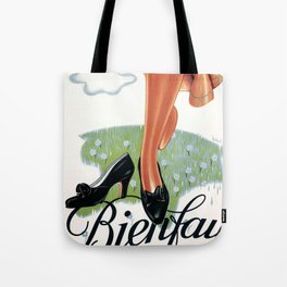Poster vintage shoes advert french bienfay Tote Bag