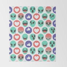Alien Reactions Throw Blanket