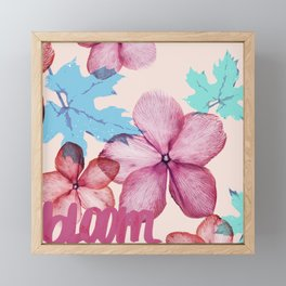 Bloom (flowers pattern) Framed Mini Art Print