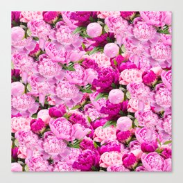 Pink Peony Party Canvas Print