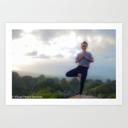 Mountain Top Yoga Art Print