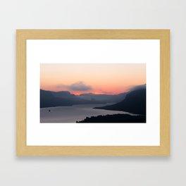 Columbia River Sunrise Framed Art Print