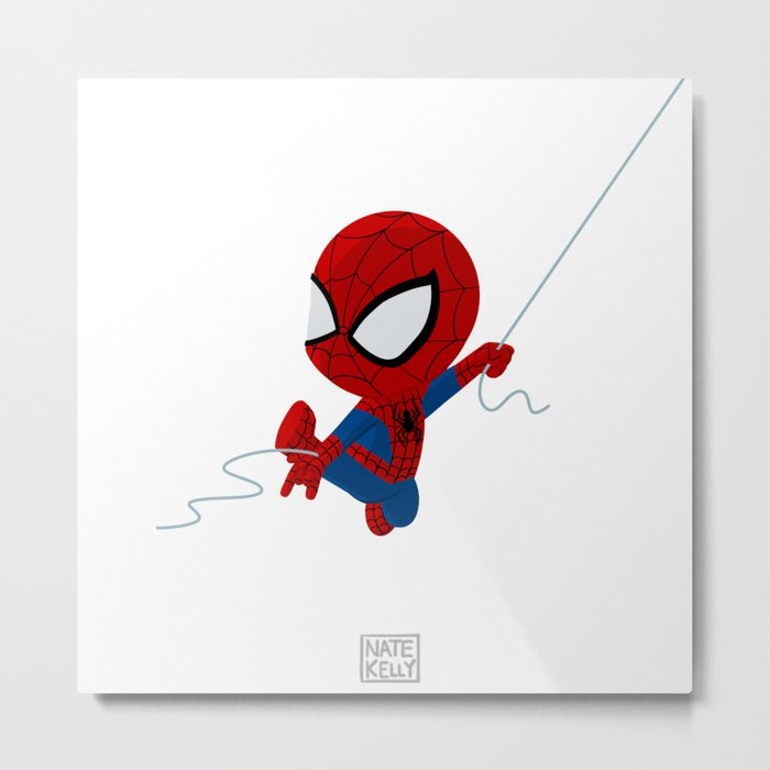 Wittle Webslinger Metal Print