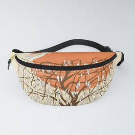 weeping willow, pelican and sun Fanny Pack