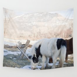 mini horses and a view Wall Tapestry
