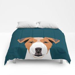 Bailey - Jack Russell Terrier phone case art print gift for dog people Jack Russell Terrier owners Comforters