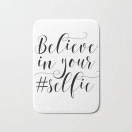 PRINTABLE Art,Believe In Your Self,Bathroom Decor,Bathroom Sign,Nursery Decor,Inspirational Quote Bath Mat