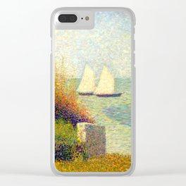 "Georges Seurat ""La rade de Grandcamp (Le port de Grandcamp)"" Clear iPhone Case"