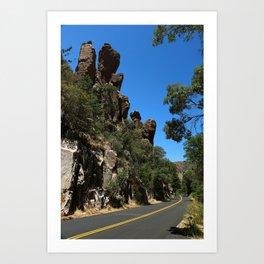 Scenic Bonita Canyon Road Art Print