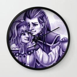 natalia and asch Wall Clock