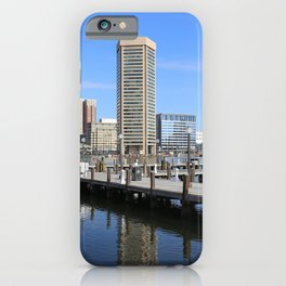 Baltimore's Inner Harbor and World Trade Center iPhone Case