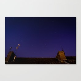 UK august night sky. Canvas Print